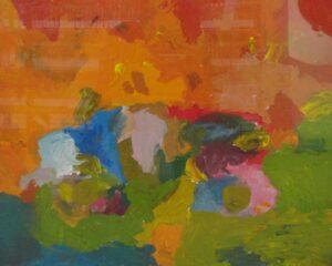 Lukisan Enggang_Mobil Balap (acrilic on kanvas), umur 4 th