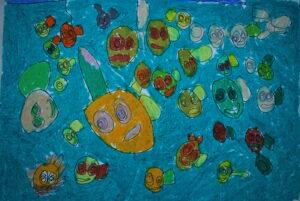 Lukisan Enggang_ikan dalam berbagai wajah